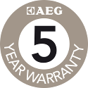 AEG Warranty 5 Year Sticker