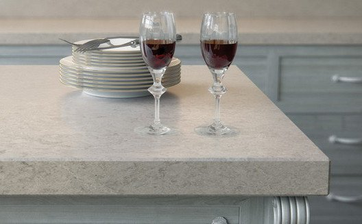 Marble Caesarstone-bianco drift kitchen worktop