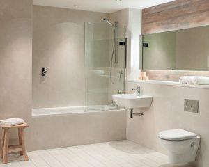 Tiled Bathroom Floor and Wall