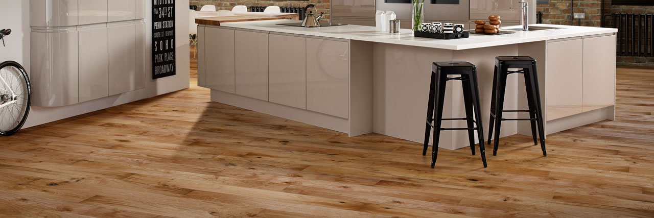Luxury Real Wood Kitchen Floor