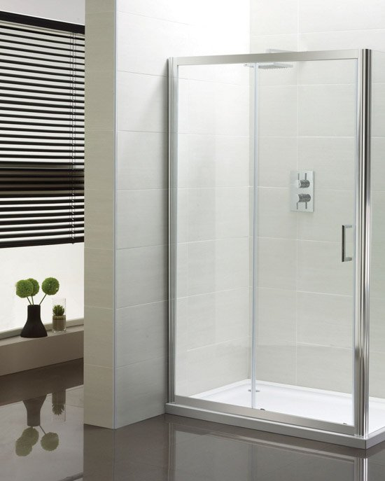 Sommer Shower Enclosure with Sliding Door, Side Panel