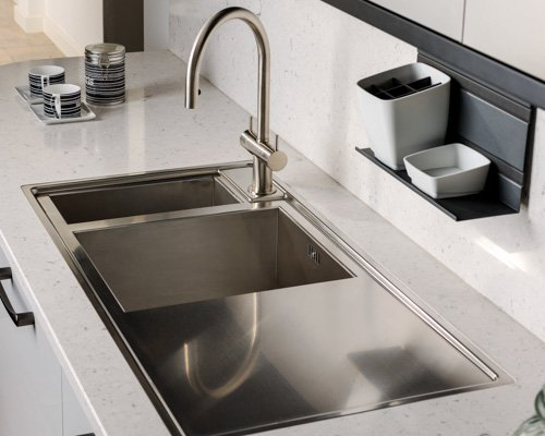 Adobe Kitchen Mono Bloc Mixer Tap with 1.5 Stainless Steel Sink
