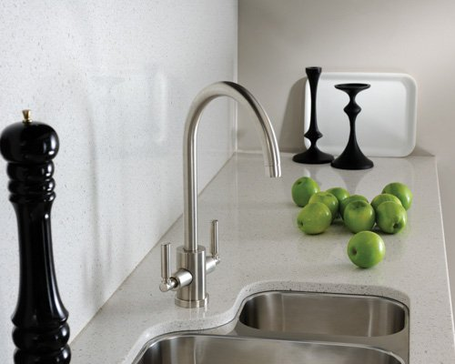 Adobe Kitchen Mono Bloc Swan Neck Mixer Tap with 1.5 Stainless S