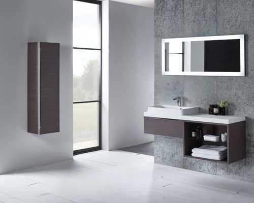Array 600 single drawer unit and 600 open unit lifestyle dark java-Standard