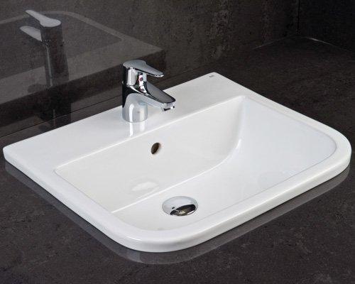Inset Bathroom Basin white porcelin